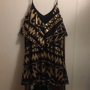 Franchesca's Black & Gold Mini Dress.  NWT